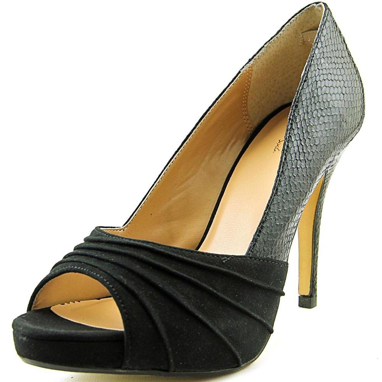 0cac113544c5e Thalia Sodi Womens Marissa Open Toe Platform Pumps, Black Snake, Size 10.0