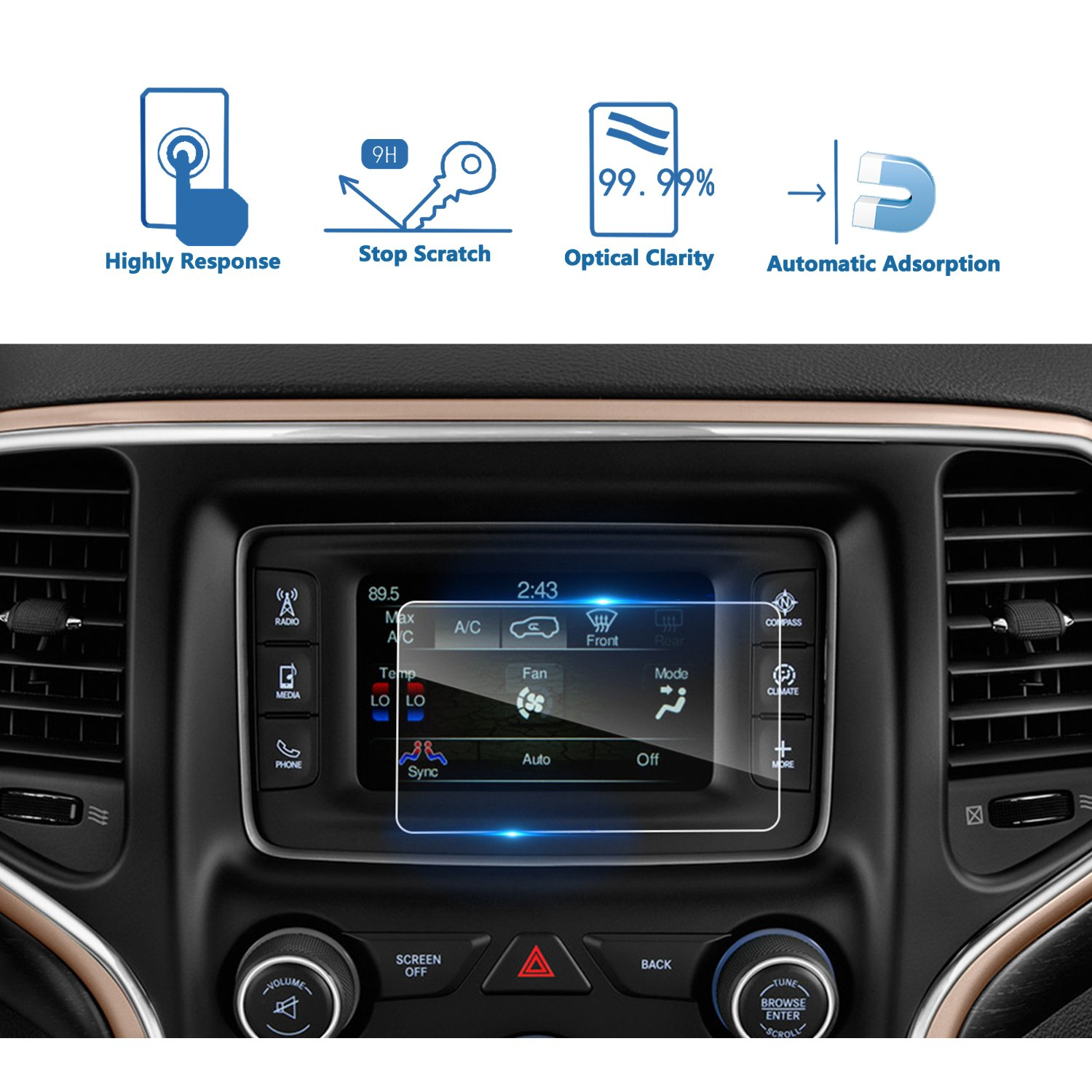 uconnect 5  : LFOTPP 2014-2018 Jeep Grand Cherokee Uconnect 5 Inch Car ...