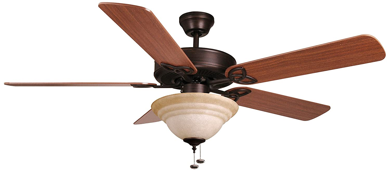 Bala 283021 Dual Mount Ceiling Fan With Bowl Light Kit 52 Inch Wiring Along Aged Bronze Fans