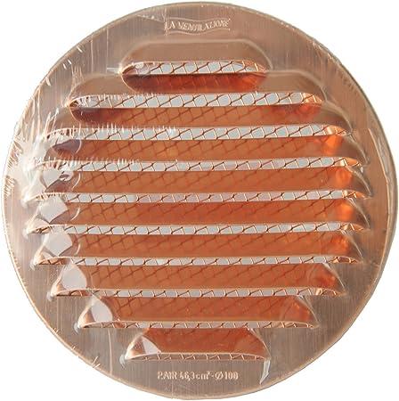 La ventilaci/ón gtsr100r-y Rejilla Redonda De integrado cobre 125/mm
