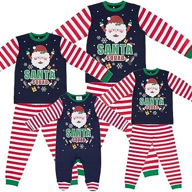 c26a5e968c Santa Squad PJs Matching Family Christmas Elf Pyjamas Mens Womens Child  Newborn  Amazon.co.uk  Clothing