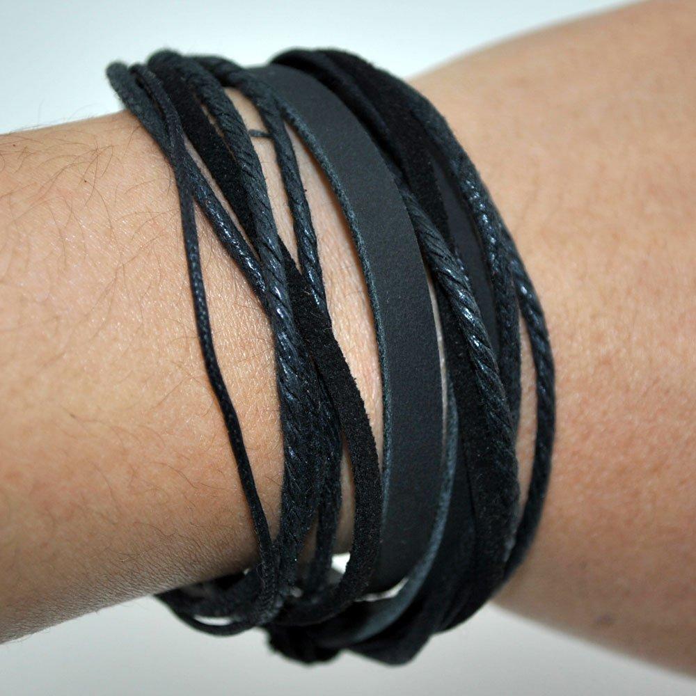 maxgoods Handmade Adjustable Multi-layer Leather Cuff Bracelet