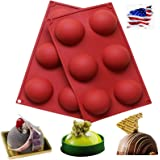 6 Holes Silicone Molds For Chocolate, Cake, Jelly, Pudding, Handmade Soap, Round Shape, Dia: 2 1/2 inches (1, A)