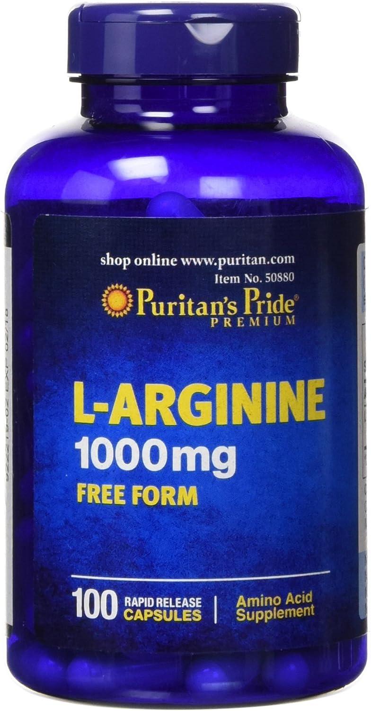 Puritans Pride L-arginine 1000 Mg Capsules, 100 Count: Health & Personal Care