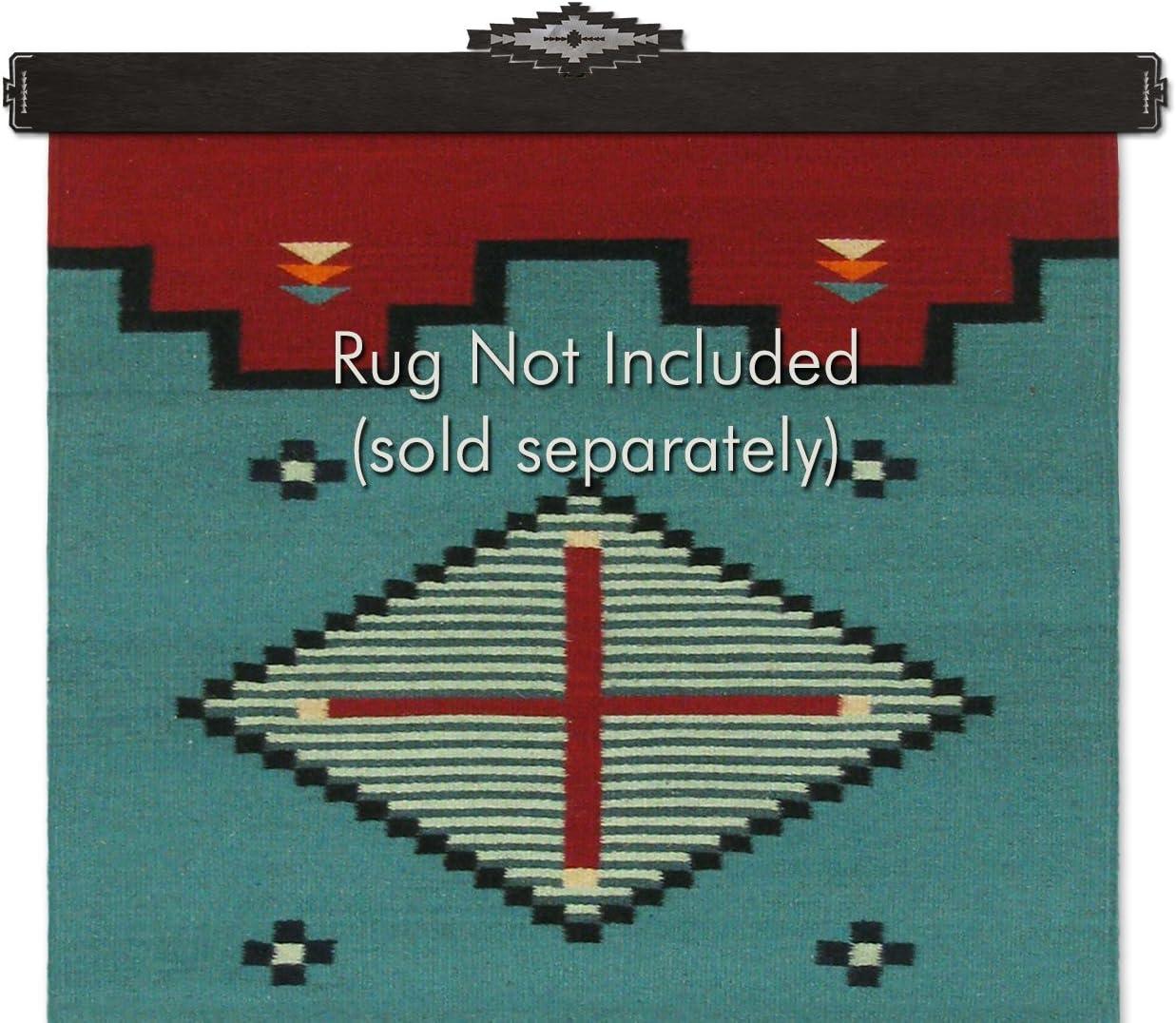 Sunland Artisans Southwest Diamond Metal Rug Hanger - Blackened Iron (42in)