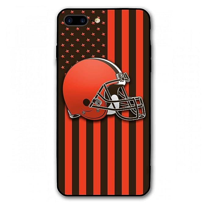 KSFNC iPhone 8 Plus Case 7 Plus Case 5.5,Football Team Design Tempered Glass Back Cover Case