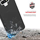 Zizo ION Series Compatible with Samsung Galaxy Note 9 Case Military Grade Drop Tested with Tempered Glass Screen Protector Black Smoke