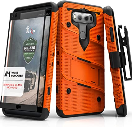 Zizo LG V20 Case, [Bolt Series] with Free [LG V20 Screen Protector ...