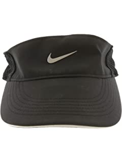 85d43663f Amazon.com: Nike Mens Aerobill Elite Running Visor Black 828651-010 ...