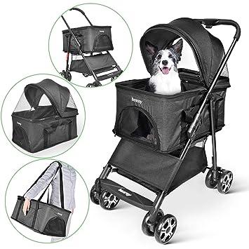 besrey Cochecitos para Perros Mascotas Plegable Viaje Carrito para Perros Silla de Paseo Gato: Amazon.es: Productos para mascotas