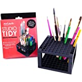 Mont Marte 96 Hole Plastic Pencil and Brush Holder, Desk Stand Organizer Holder for Drawing Markers, Paint Brushes, Colored Pencils