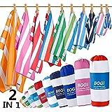 BOGI Microfiber Sports Travel Beach Towel-L 63''x31.5''XL 79''x35.5'' with Hand/Face Towel for Travel Bath Beach Swim…