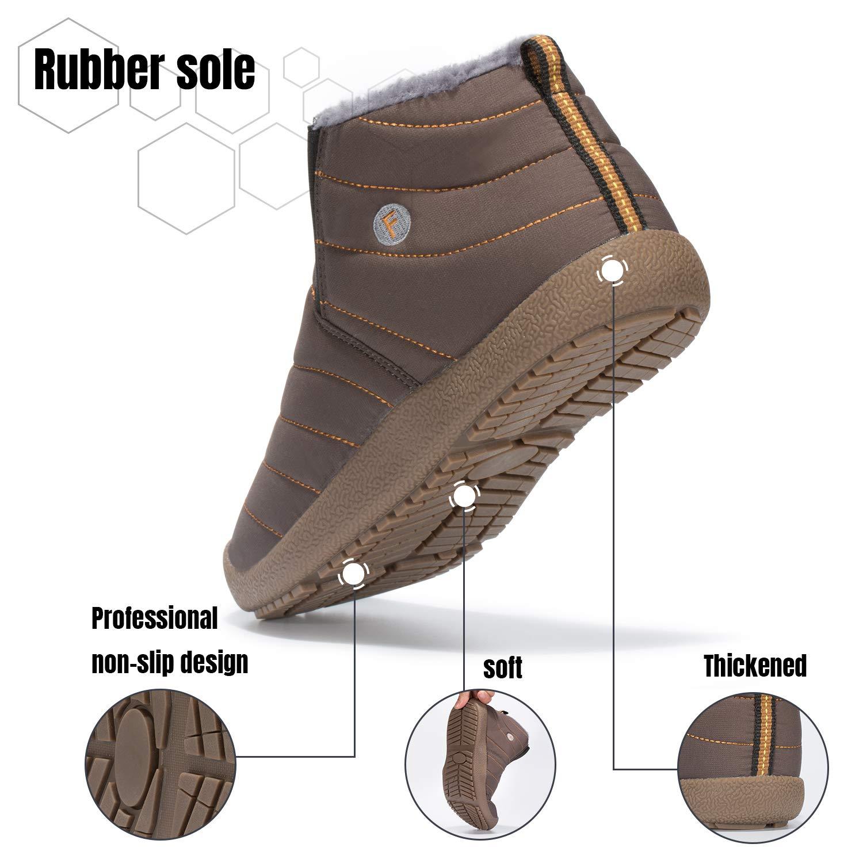 Mishansha Mens Womens Winter Snow Boot Outdoor Indoor Waterproof Slip On Athletic Casual Walking Hiking Ankle Shoes by Mishansha (Image #6)
