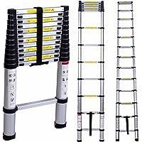 SAYSHA Ultra-Stable Aluminium Folding Telescopic Ladder (3.2 m; 10.5 ft; Multicolour)