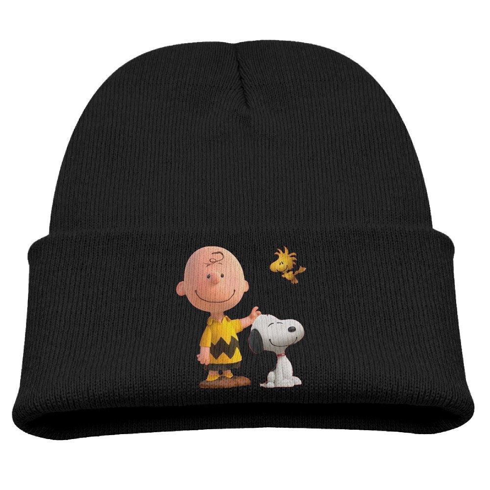 Karenosi Peanuts Movie 2015 Snoopy Warm Winter Hat Knit Beanie Skull Cap Cuff Beanie Hat Winter Hats Girls Larenoto B01N8RBY0M