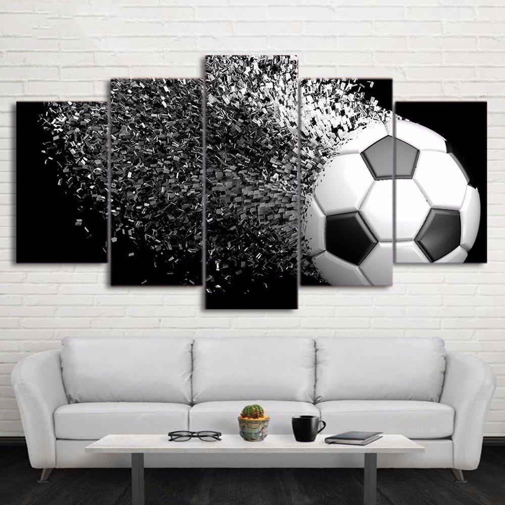 Gehören Frame HD Gedruckt 5 Stück Leinwand Kunst Fußball ...