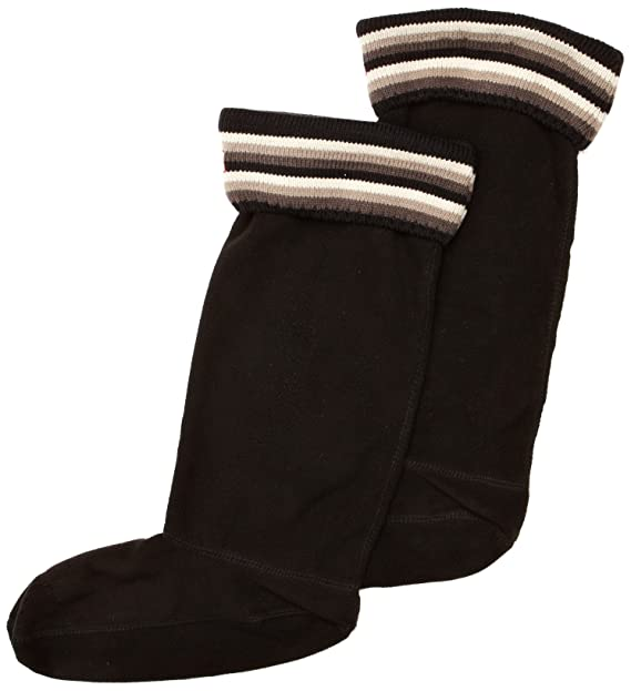 Hunter rayas puños Welly Socks - Calcetines para mujer multicolor Multi Black/Grey: Amazon.es: Ropa y accesorios