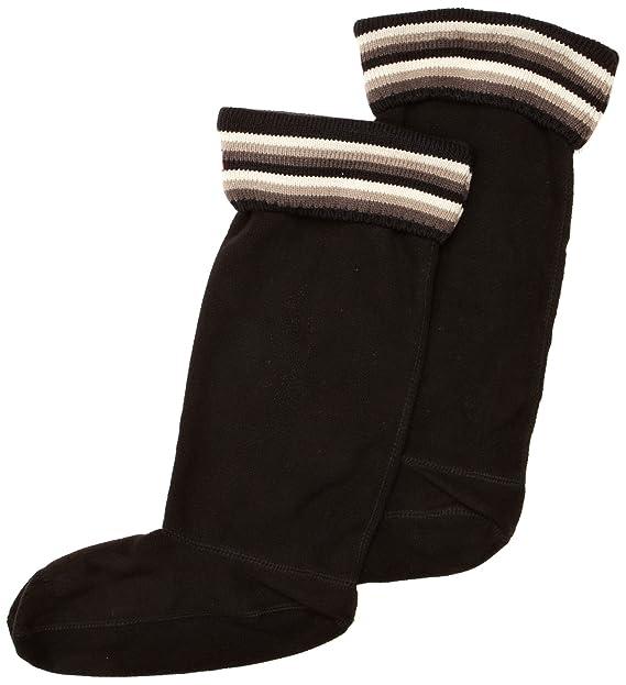 Hunter rayas puños Welly Socks - Calcetines para mujer multicolor Multi Black/Grey: Amazon.es: Ropa y accesorios