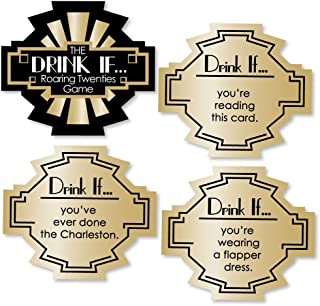 product image for Big Dot of Happiness Drink If Game - Roaring 20's - 1920s Art Deco Jazz Party Game - 24 Count