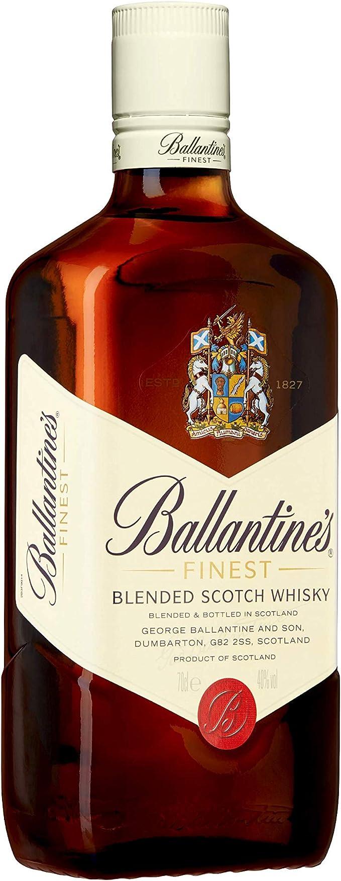 Ballantines Finest Whisky Escocés de Mezcla - 700ml: Amazon ...
