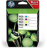 HP 953XL Multipack Druckerpatronen (mit hohe Reichweite für HP Officejet Pro) schwarz, rot, gelb, blau