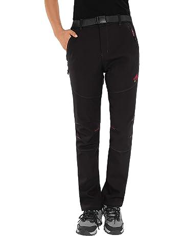 74d968e2c1fba HAINES Pantalon Randonnée Femme Imperméable Chaud Pantalon Softshell Hiver  Pantalons de Ski Escalade Montagne
