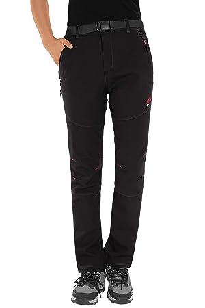 224bebe1d7c6a HAINES Pantalon Trekking Mujer Impermeable Pantalones de Montaña Invierno  Pantalón Softshell de Senderismo  Amazon.es  Deportes y aire libre