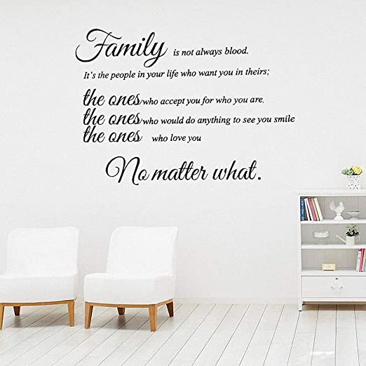 Amazon Com Lafunda Family Wall Quote Art Sticker Decal Multi