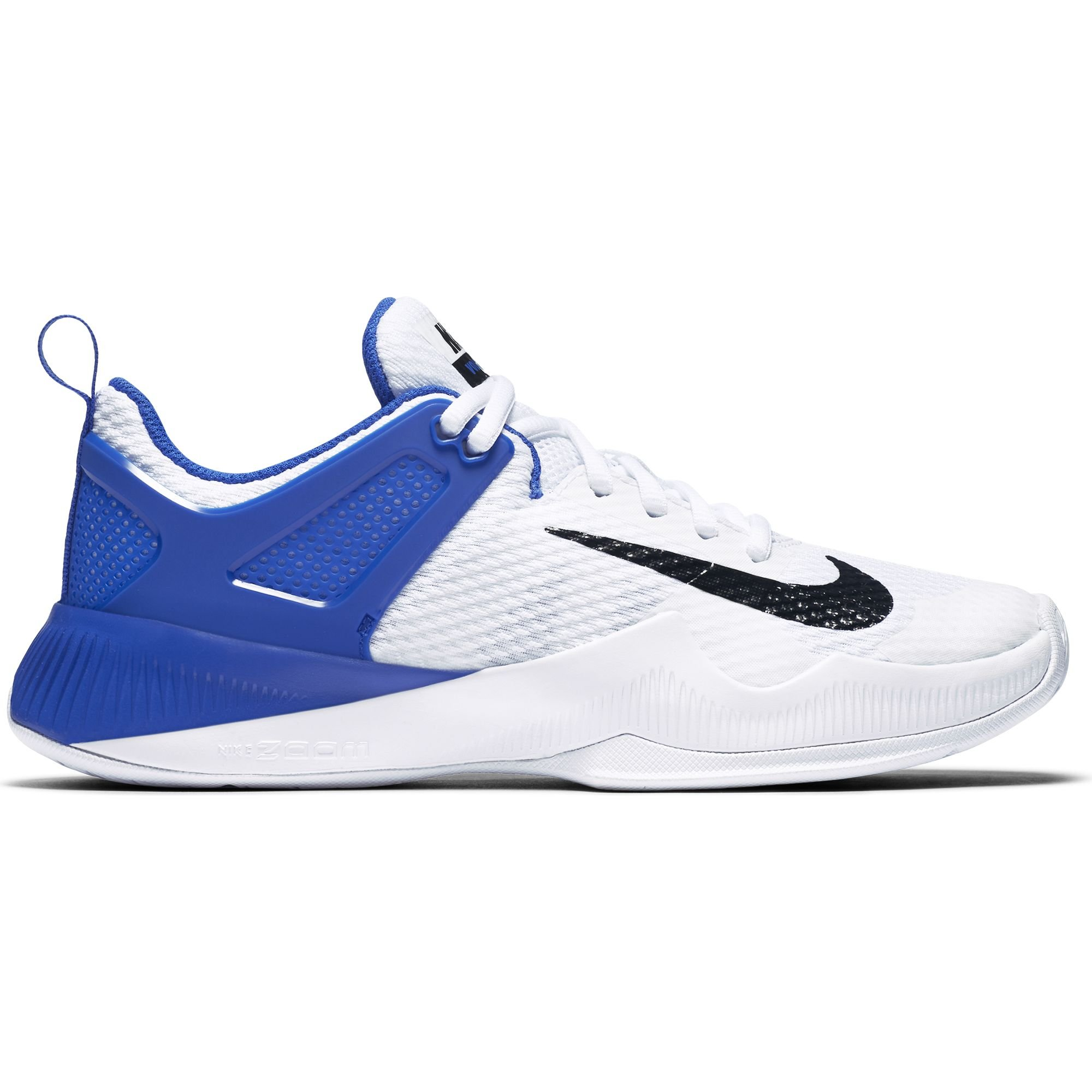 Women's Nike Air Zoom Hyperace Volleyball Shoes White/Black/Game Royal Size 9.5 M US