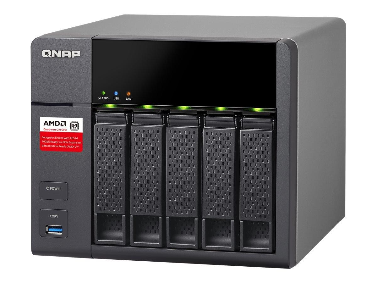 QNAP TS-563-2G 5-Bay AMD 64bit x86-based NAS, Quad Core 2.0GHz, 2GB RAM, 2 x 1GbE, 10G-ready