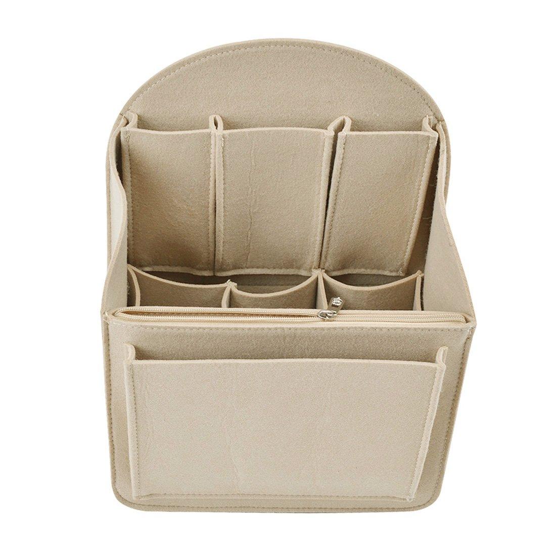 YUENA CARE Insert Bag Felt Backpack Organiser Multi Pocket for Shoulder Bag Handbag Tote