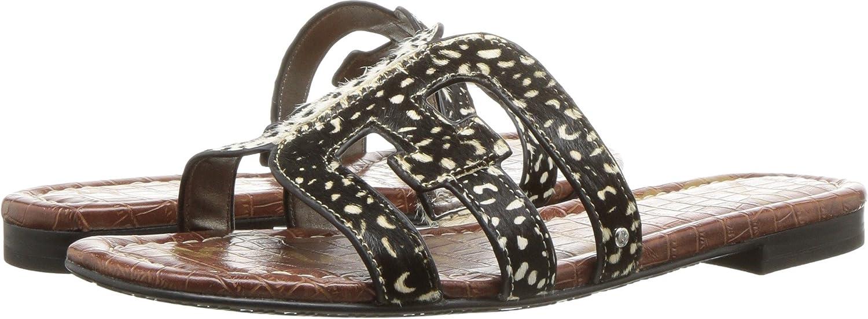Sam Sandal Edelman Women's Bay Slide Sandal Sam B078WH6KNG 6 W US|Black/Black/Ivory Dotted Brahma Hair a82eef