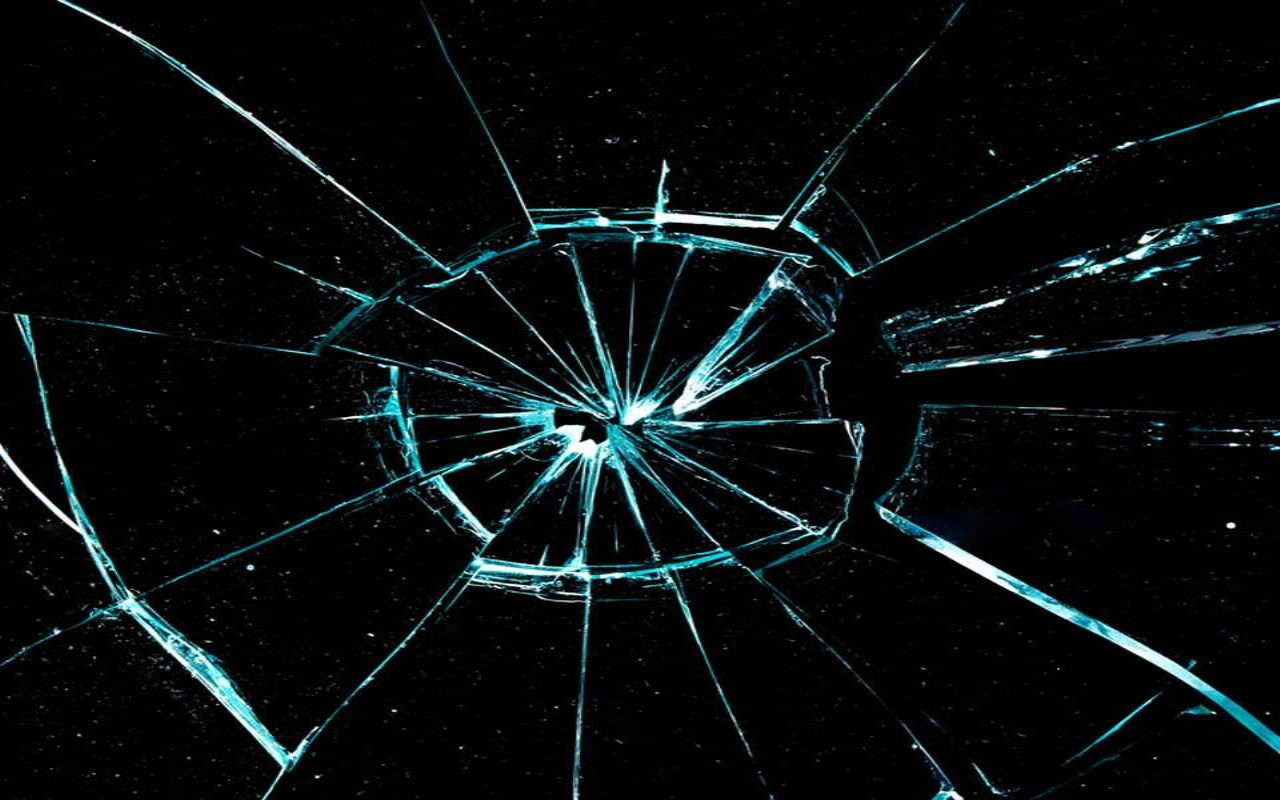 mobile glass crack wallpaper