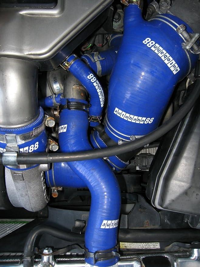 Autobahn88 Refrigerante del radiador y calentador Kit de la manguera de silicona, Modelo ASHK202-RD (Rojo - sin sistema de abrazadera): Amazon.es: Coche y ...