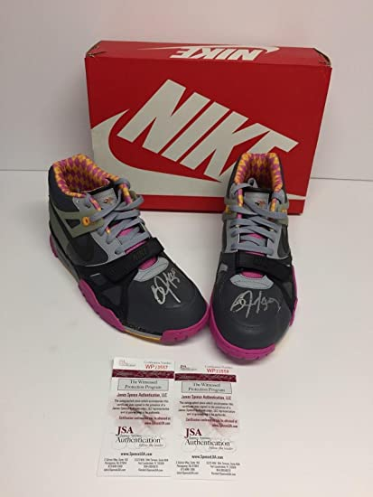 6e25df2a56731 Image Unavailable. Image not available for. Color  Bo Jackson Dual Signed Nike  Air Trainer III ...