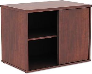 Alera ALE Open Office Low Storage Cabinet Credenza, 29 1/2 x 19 1/8x 22 7/8, Cherry