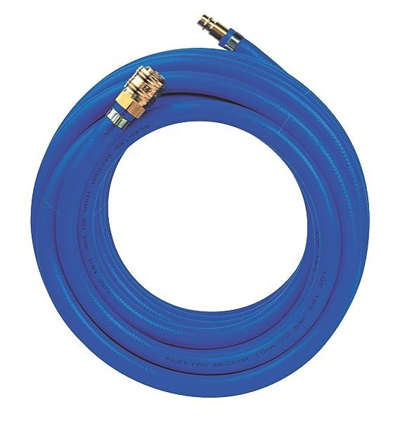 Metabo Druckluftschlauch SUPER AIR 10, widerstandsfähiger Luftschlauch mit Schnellkupplung und Nippel, Länge 10 m, blau, Art.