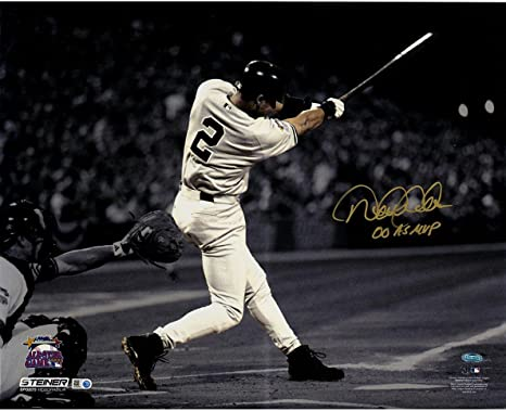 74b81ceb1 Image Unavailable. Image not available for. Color: Steiner Sports MLB New  York Yankees Derek Jeter Signed in Gold 2000 ...