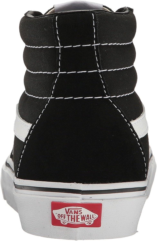 Vans Herren Sk8-Hi Hightop Sneaker Schwarz Weiß Black Black White Canvas