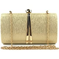Well-Made Women's Comfortable Fabric Evening Bag/Ladies Fashion Banquet Wedding Clutch Black/Red/Gold/Silver/Gray Small Square Bag Handbags (Color : Gold)