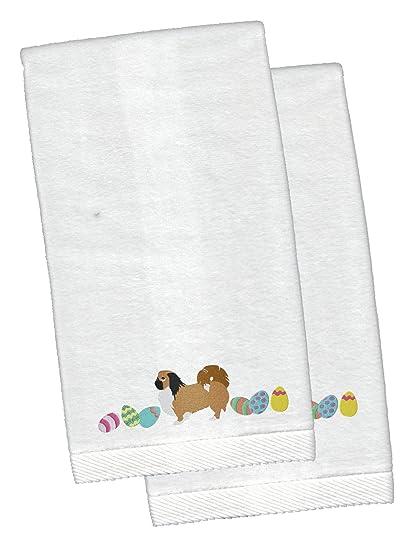 Caroline s Treasures Pekingese Pascua bordado toallas de mano, 26 x 16 W,