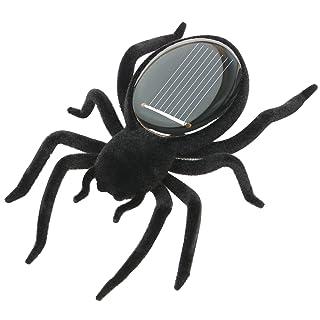 TRIXES Ragno robot nero alimentato a energia solare, tarantola, ronza, ondeggia, educativo.