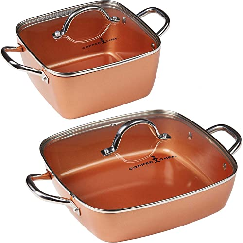 Copper-Chef-4-Piece-Deep-Casserole-Pan-Set-(8,-12-inches)