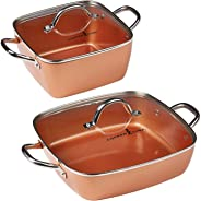 Copper Chef 4-Piece Deep Casserole Pan Set (8
