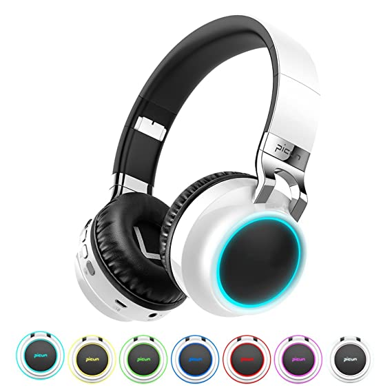 Bluetooth Wireless Glowing Headset With Mic Support TF Card For Phone iPhone xiaomi PC TV,