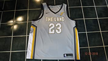 the best attitude 3d318 9524b LEBRON JAMES (Nike) Game Style Fully Tagged Cavaliers Jersey ...