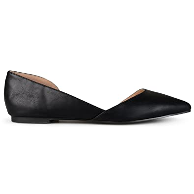 29e4e0e47d9b Brinley Co Womens D'Orsay Cut-out Pointed Toe Fashion Flats, Black-