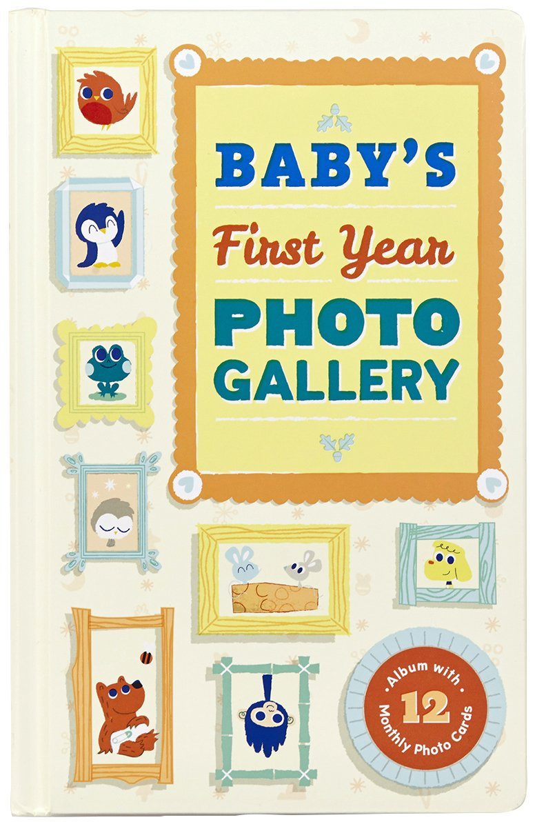 buy baby s first year photo gallery album with 12 monthly photo