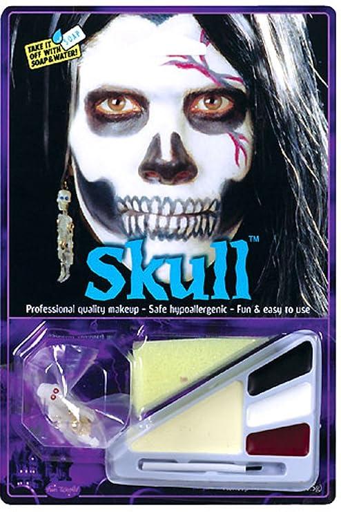 adult skull halloween makeup kit