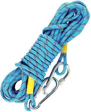 VORCOOL Cuerda de escalada al aire libre, 2 metros, cuerda de escalada con gancho de acero de 10 cm (color al azar)